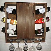 """Кухни ручной работы. Ярмарка Мастеров - ручная работа Полка для вина """"Фейерверк"""" с дверцей. Handmade."""