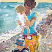 Картины и панно handmade. Livemaster - original item Picture. Anya with babies. Handmade.