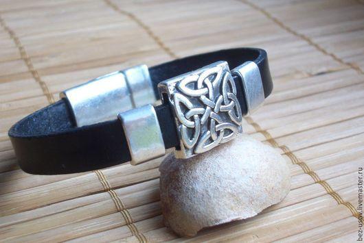 """Браслеты ручной работы. Ярмарка Мастеров - ручная работа. Купить Кожаный браслет унисекс  """"Кельты """". Handmade. Повседневное украшение"""