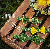 Галстуки ручной работы. Ярмарка Мастеров - ручная работа Галстуки-бабочки. Зелено-желтые. Handmade.