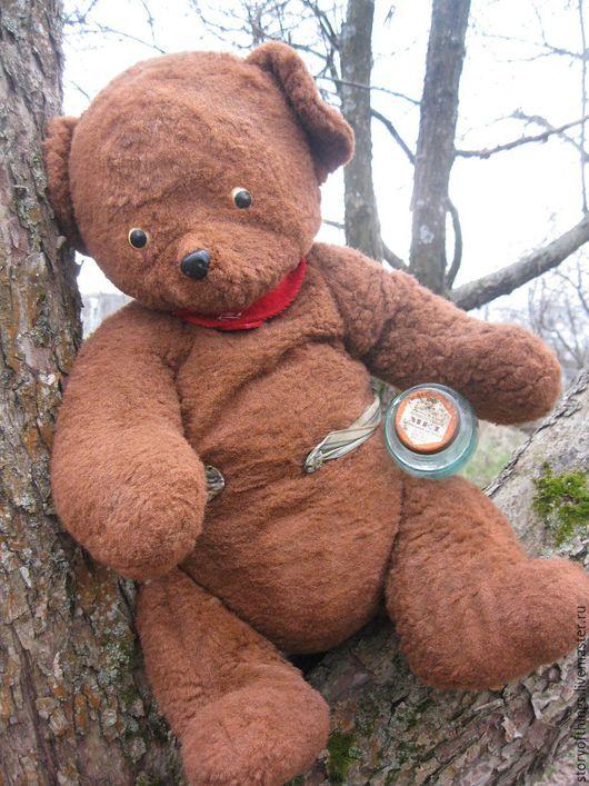 Винтажные куклы и игрушки. Ярмарка Мастеров - ручная работа. Купить Медведь большой старинный СССР. Handmade. Коричневый, медведь, старинный