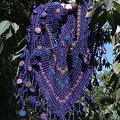 Аксессуары handmade. Livemaster - original item Merino. Soft multi-colored shawl