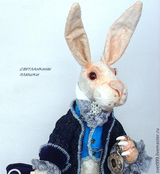 """Мишки Тедди ручной работы. Ярмарка Мастеров - ручная работа. Купить плюшевый кролик """"Белый кролик Мартин """". Handmade."""
