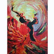 Картины и панно handmade. Livemaster - original item Painting flamenco Dancer oil, palette knife. Handmade.