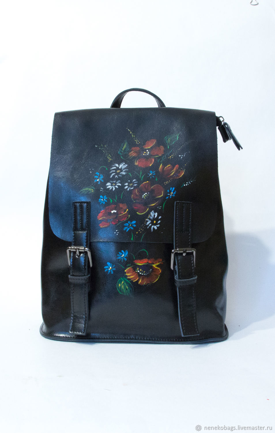 f18035fad2 Backpacks handmade livemaster handmade buy backpack leather black with  handle transformer hand jpg 954x1500 Hand painted
