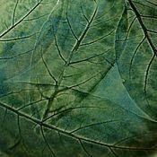Посуда ручной работы. Ярмарка Мастеров - ручная работа Тарелка с листьями ивы. Handmade.