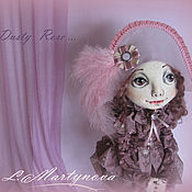 Куклы и игрушки handmade. Livemaster - original item Interior Textile Doll Jointed Primed.Dusty Rose.. Handmade.