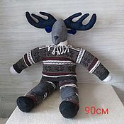 Мягкие игрушки ручной работы. Ярмарка Мастеров - ручная работа Игрушка - Лось. Handmade.