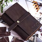 Канцелярские товары handmade. Livemaster - original item Pocket leather Notepad with interchangeable notebooks genuine leather. Handmade.