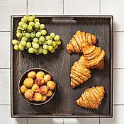 Для дома и интерьера handmade. Livemaster - original item Square tray made of dark oak. Handmade.