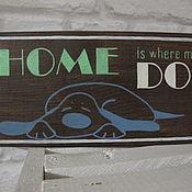 Для домашних животных, ручной работы. Ярмарка Мастеров - ручная работа Табличка деревянная с собакой. Handmade.