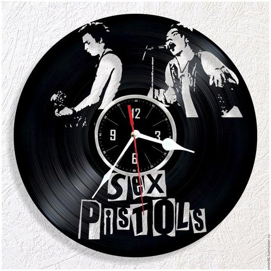 """Часы для дома ручной работы. Ярмарка Мастеров - ручная работа. Купить Часы из пластинки """"Sex Pistols"""". Handmade. Sex pistols"""