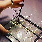Для дома и интерьера ручной работы. Ярмарка Мастеров - ручная работа Стеклянная шкатулка на цепочке 9х11х5. Handmade.