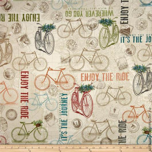 """Шитье ручной работы. Ярмарка Мастеров - ручная работа. Купить Набор тканей.(5 видов) """" Велосипедная прогулка"""" Американский хлопок.. Handmade."""