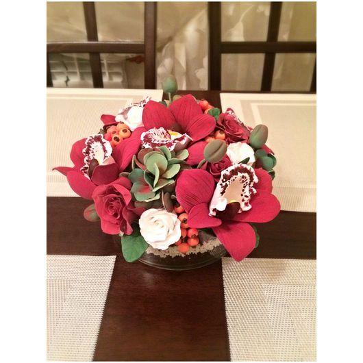 Интерьерные композиции ручной работы. Ярмарка Мастеров - ручная работа. Купить Композиция из орхидей. Handmade. Цветы, цветы ручной работы