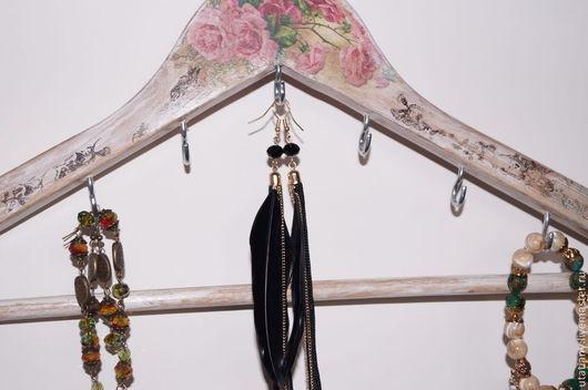 Подвески ручной работы. Ярмарка Мастеров - ручная работа. Купить Вешалка для украшений. Handmade. Вешалка, для украшений, плечики, розовые розы