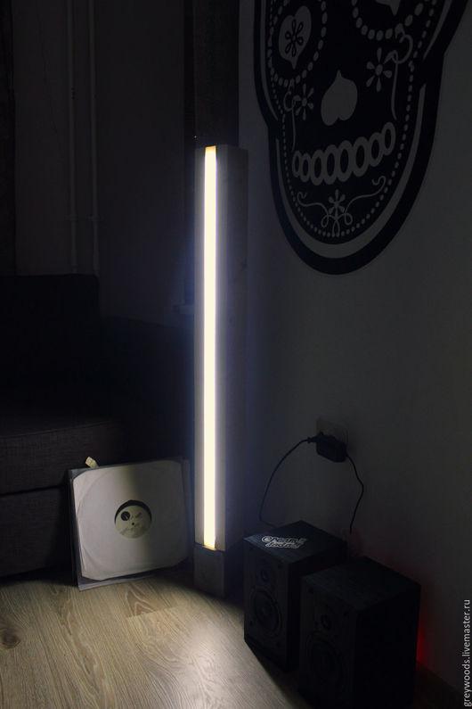 Освещение ручной работы. Ярмарка Мастеров - ручная работа. Купить Светильник напольный LED. Handmade. Светильник ручной работы, дерево