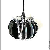 Для дома и интерьера ручной работы. Ярмарка Мастеров - ручная работа Светильники в техно стиле из компьютерных дисков. Handmade.