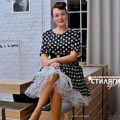 Одежда ручной работы. Ярмарка Мастеров - ручная работа Платье в горошек. Handmade.