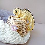 Куклы и игрушки handmade. Livemaster - original item Knitted toy Chameleon zolotinka.. Handmade.