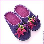 """Обувь ручной работы. Ярмарка Мастеров - ручная работа Тапочки """"Колокольчики2"""". Handmade."""
