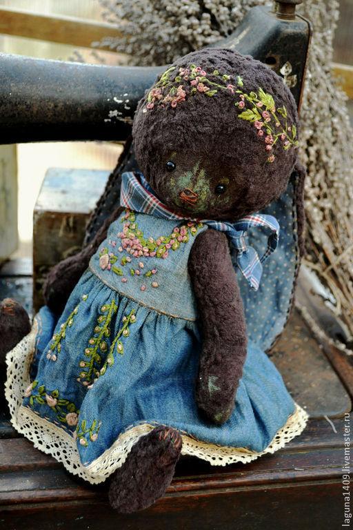 """Мишки Тедди ручной работы. Ярмарка Мастеров - ручная работа. Купить Плюшевая зайка """"Муська"""". Handmade. Разноцветный, вышивка"""