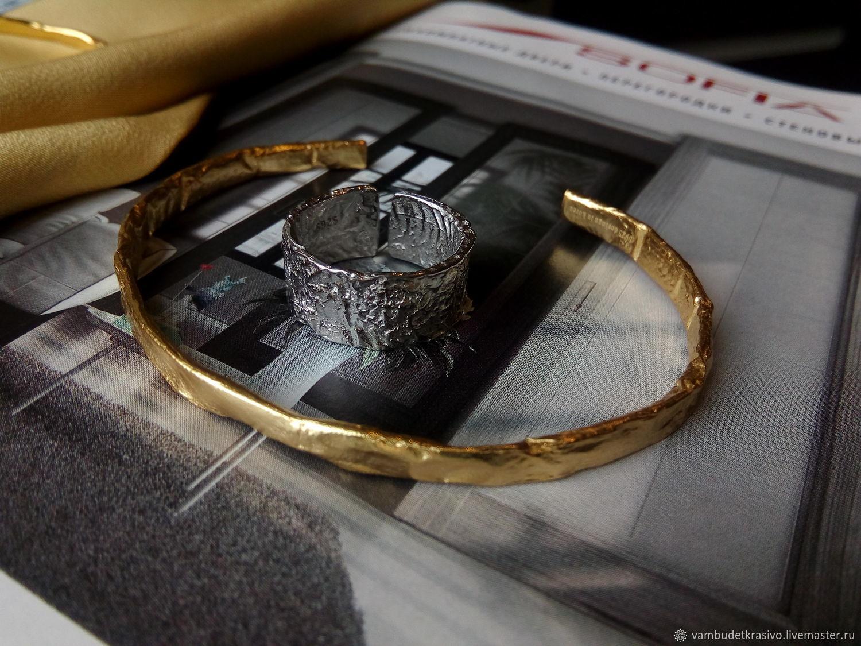 Кольцо фактурное из серебра, Кольца, Москва,  Фото №1