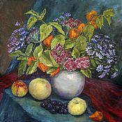 Картины и панно handmade. Livemaster - original item Oil painting. Autumn flowers. Still life with flowers.. Handmade.