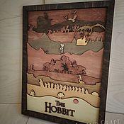 Картины и панно handmade. Livemaster - original item Panels: Wooden Multi-layer Hobbit Painting. Handmade.