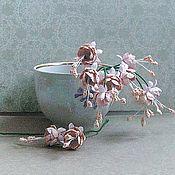 Материалы для творчества handmade. Livemaster - original item A bouquet of fuchsia, pale pink and beige. Handmade.