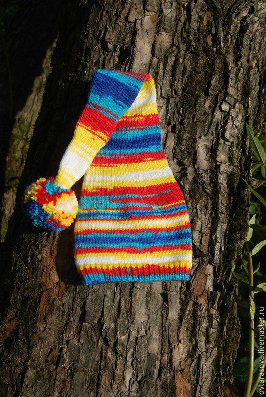 """Шапки и шарфы ручной работы. Ярмарка Мастеров - ручная работа. Купить Детский вязаный колпак для фотосессий """"Яркие краски"""". Handmade."""