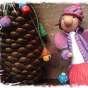 """Подарки к праздникам ручной работы. Ярмарка Мастеров - ручная работа Фигурка """"Фея новогодних игрушек"""". Handmade."""