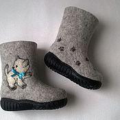 """Обувь ручной работы. Ярмарка Мастеров - ручная работа Детские валенки """"Котята"""". Handmade."""