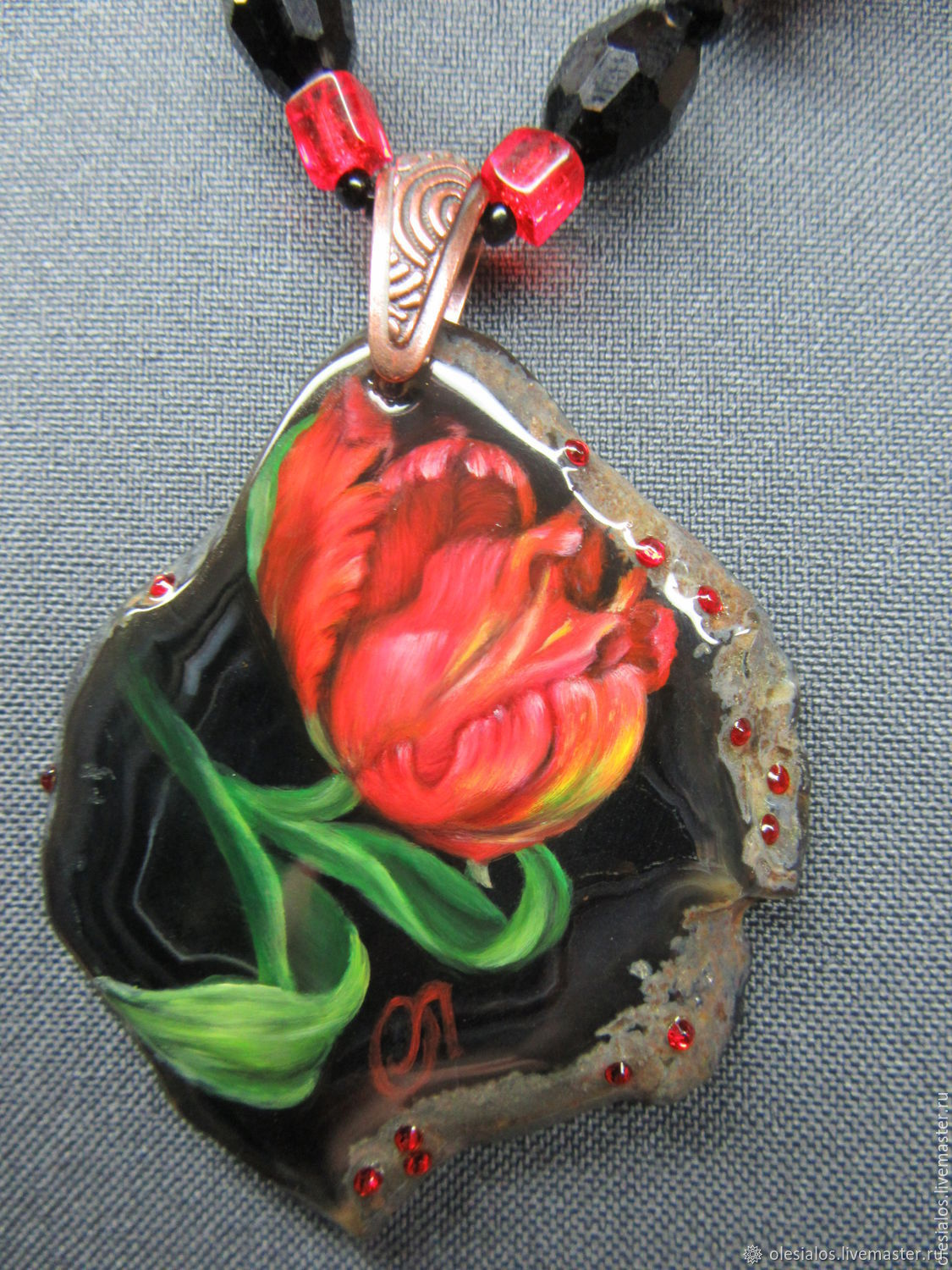 'The noble Tulip', Pendants, Biisk,  Фото №1