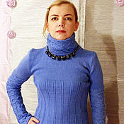 Одежда handmade. Livemaster - original item Knitted jumper is made from natural Alpaca Purple morning. Handmade.