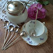 Винтаж handmade. Livemaster - original item A set of teaspoons, 6 pieces. Handmade.