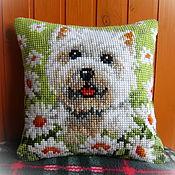 Для дома и интерьера handmade. Livemaster - original item Pillow cushion, Woof Woof. Handmade.