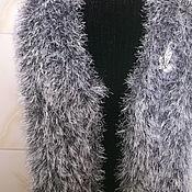 "Одежда handmade. Livemaster - original item Women`s vest is knitted from "" fur "". Handmade."