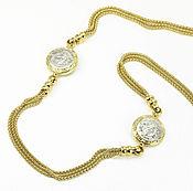 Necklace handmade. Livemaster - original item 14K Versace Necklace, Yellow Gold Versace Necklace, Two-Toned Versace. Handmade.