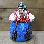 Куклы и игрушки handmade. Livemaster - original item Baba Yaga - a toy made of cotton. Handmade.