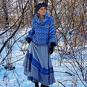 Одежда ручной работы. Ярмарка Мастеров - ручная работа Вязаный комплект (свитер, юбка) в стиле БОХО (№226). Handmade.