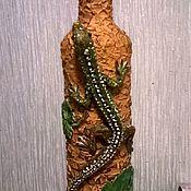 Бутылки ручной работы. Ярмарка Мастеров - ручная работа Медной горы хозяйка.. Handmade.