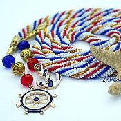 Украшения handmade. Livemaster - original item Lariat Nautical style long strap beaded. Handmade.