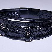 Украшения handmade. Livemaster - original item Leather bracelet with natural stones.. Handmade.