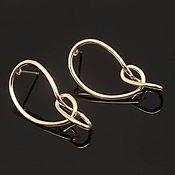 Материалы для творчества handmade. Livemaster - original item Earrings studs 14*28.3 mm gold plated th. Korea (4387). Handmade.