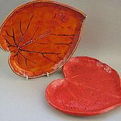 """Посуда ручной работы. Ярмарка Мастеров - ручная работа Тарелки """"Яркие листья"""". Handmade."""