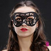 Одежда ручной работы. Ярмарка Мастеров - ручная работа Кружевная маска #24. Handmade.