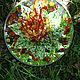 Экстерьер и дача ручной работы. Цветок папоротника, Стекло, фьюзинг. Natali Greta Oto Стеклянная бабочка. Ярмарка Мастеров.