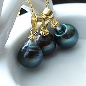 Украшения handmade. Livemaster - original item Pendant with Tahitian pearl to buy. Handmade.