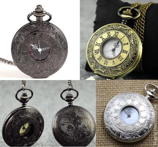 """Часы ручной работы. Ярмарка Мастеров - ручная работа. Купить Часы карманные """"Римские цифры"""" (3 вида). Handmade."""
